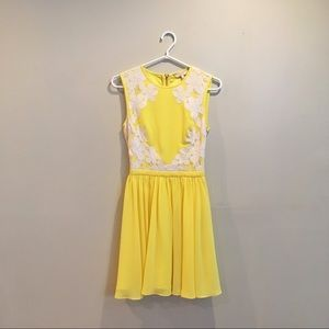Ted Baker Yellow Vember Lace Dress
